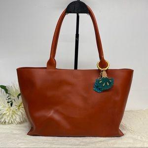 Furla Burnt Orange / Brown Leather Handbag Purse